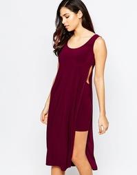 Платье с накидкой и вырезами Love Grape - Grape