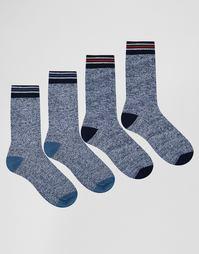 Набор из 4 пар носков в полоску Jack & Jones - Мульти
