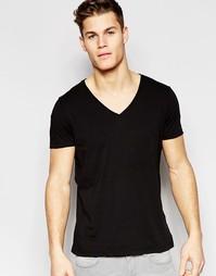 Черная футболка классического кроя Boss Orange - Черный