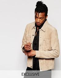 Легкая замшевая куртка без подкладки Black Dust - Серо-коричневый