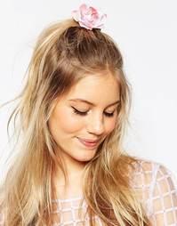 Винтажная заколка для волос с цветком ASOS - Розовый