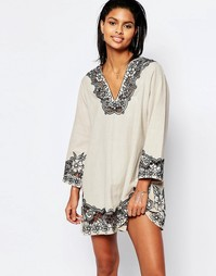 Платье-туника с вышивкой Tularosa Cosmos