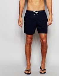 Однотонные шорты для плавания Abercrombie & Fitch - Темно-синий