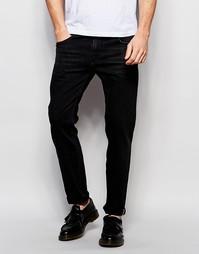 Черные эластичные джинсы слим плотностью 13 унций ASOS - Черный