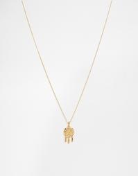 Ожерелье с подвеской ловец снов Orelia - Бледно-золотистый