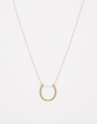 Длинное ожерелье с подвеской-подковой Orelia - Золотой