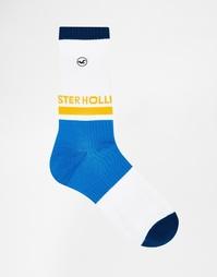 Носки с логотипом Hollister - Синий