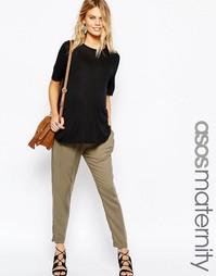 Тканые брюки‑галифе для беременных ASOS Maternity - Хаки