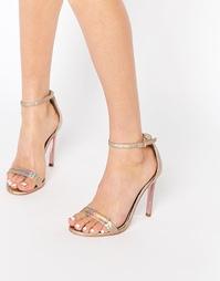 Золотистые кожаные сандалии на каблуке Carvela Gatsby - Золотой