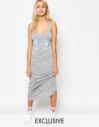 Облегающее платье макси с флоковыми морскими коньками Kiss & Tell