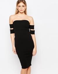 Облегающее платье‑бандо Boohoo - Черный