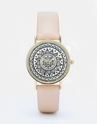 Часы с принтом на циферблате ASOS - Кремовый