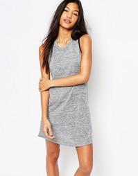 Платье с вырезами сзади и контрастной отделкой Boohoo - Серый меланж