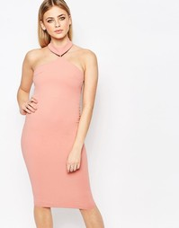 Облегающее платье миди Boohoo - Роза