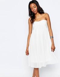 Платье-бандо миди Glamorous - Белый