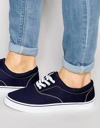 Темно-синие кеды на шнурках ASOS - Темно-синий