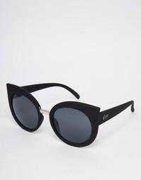 Черные солнцезащитные очки кошачий глаз Quay Australia Dream of Me