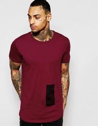 Длинная футболка с принтом Religion - Красный