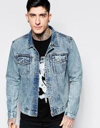 Мраморная джинсовая куртка Dead Vintage - Синий