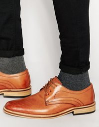Черные кожаные туфли на шнуровке Dune - Рыжий