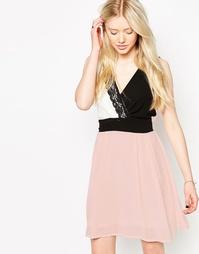 Платье с кружевной вставкой Jasmine - Телесный