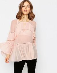 Блузка с рюшами ASOS - Blush