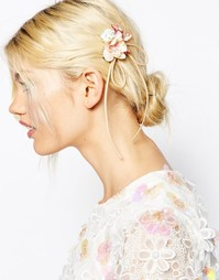 Заколка-брошь с цветами и бантиком ASOS - Розовый
