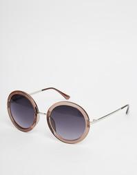 Прозрачно-коричневые круглые солнцезащитные очки AJ Morgan