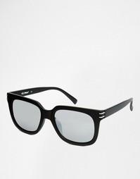 Квадратные солнцезащитные очки в матовой черной оправе AJ Morgan