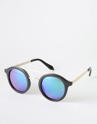 Круглые солнцезащитные очки с синими линзами AJ Morgan