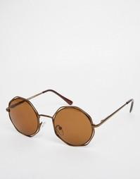 Круглые солнцезащитные очки AJ Morgan - Bronze