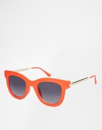 Солнцезащитные очки кошачий глаз с контрастными дужками AJ Morgan
