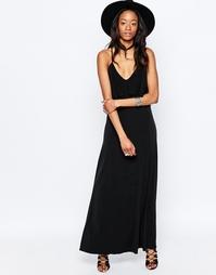 Платье на тонких бретельках со спинкой-борцовкой Glamorous - Черный