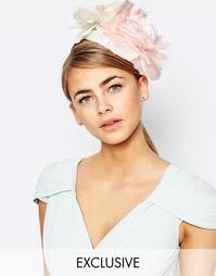 Вуалетка с розовыми цветами и цвета слоновой кости Johnny Loves Rosie