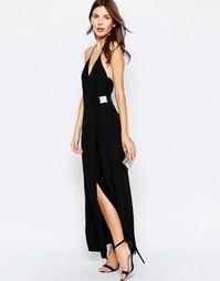 Черное платье макси Keepsake Oasis - Черный