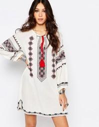 Платье кремового цвета с вышивкой Star Mela Mayra