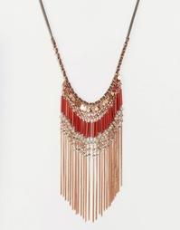Броское ожерелье с бахромой из кисточек Glamorous - Золотой