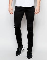 Супероблегющие черные джинсы в стиле 90-х Dr Denim Kissy