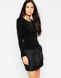 Платье с фактурной юбкой Traffic People Snowballs - Черный