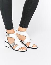 Белые сандалии с пряжками Eeight Salma - Белый