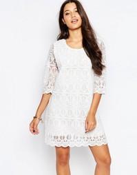 Платье с узором Style London - Белый