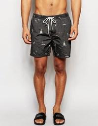 Пляжные шорты Globe Mains 16,5 дюйма - Черный