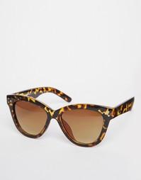 Солнцезащитные очки кошачий глаз в черепаховой оправе AJ Morgan