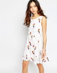 Приталенное платье с принтом Iska - Белый