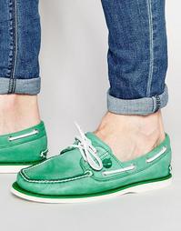 Классические кожаные мокасины Timberland - Зеленый