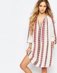 Красивое платье с вышивкой Maison Scotch - Кремовый