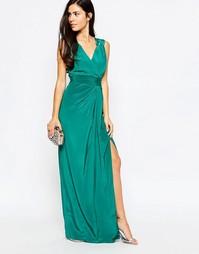 Платье макси VLabel Palmers - Aqua