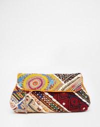Сумка-клатч с вышивкой Raga - Мульти