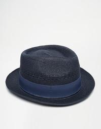 Соломенная шляпа‑федора Goorin Boogie - Темно-синий