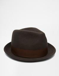 Мягкая фетровая шляпа из шерсти Goorin Rude Boy - Коричневый